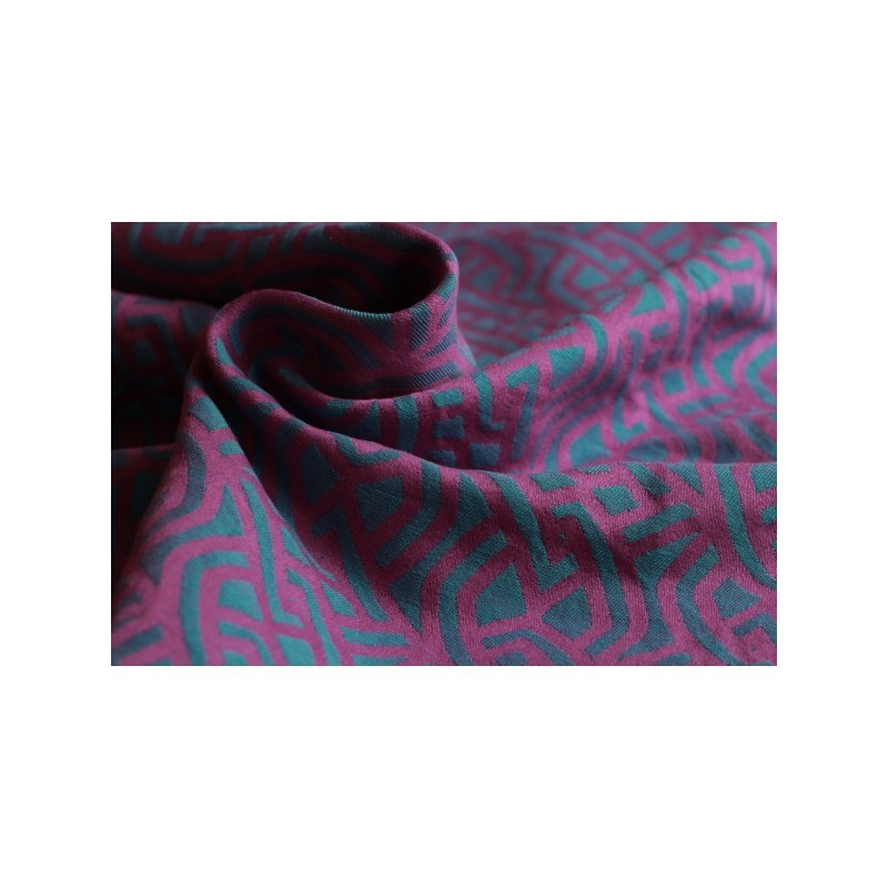 Yaro Braid Purple Emerald Soft Linen