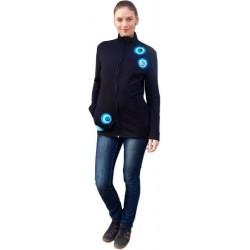 MARTA-mikina pre nosiace a tehotné ženy, aplikácia tyrkysové kolieska