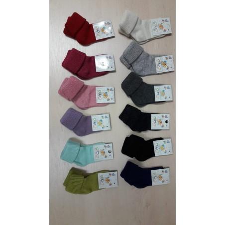 Vlnené ponožky Diba jednofarebné v. 0