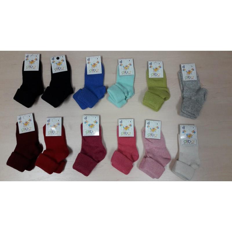 Vlnené ponožky Diba jednofarebné v. 1