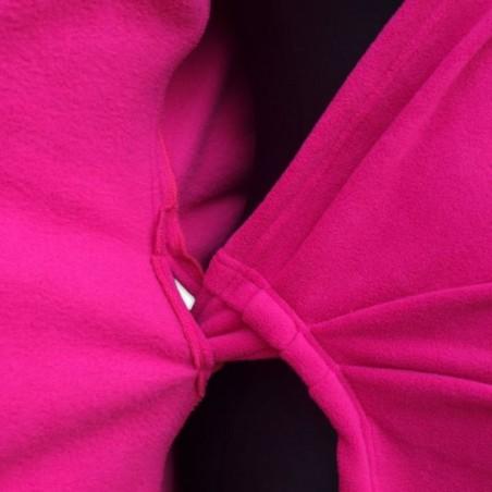 Zina - zavinovací fleesový kabátik tmavo ružový