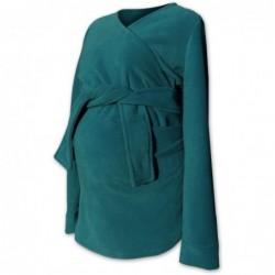 Zina - zavinovací fleesový kabátik petrolejový