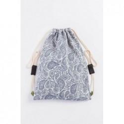 Vrecko/ruksak Paisley Navy Blue /Cream
