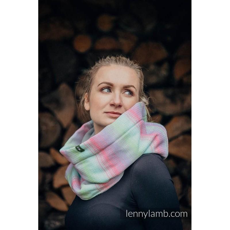 Lenny Lamb šál s fleesom Little Heringbobe Impression - Grey