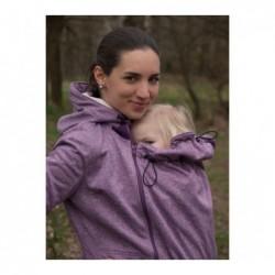 Softshellový kabát fialový