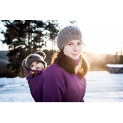 Softsehlový kabát fuchsiovo fialovy