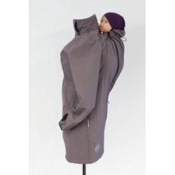 Softsehlový kabát dymovo sivý