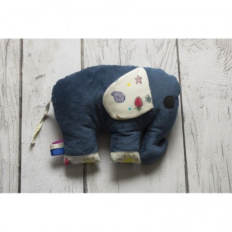 Hračka - vankúšik sloník Minky tmavomodrý