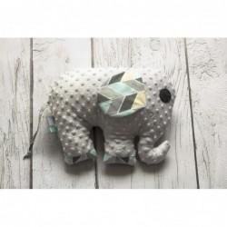Hračka - vankúšik sloník Minky sivý