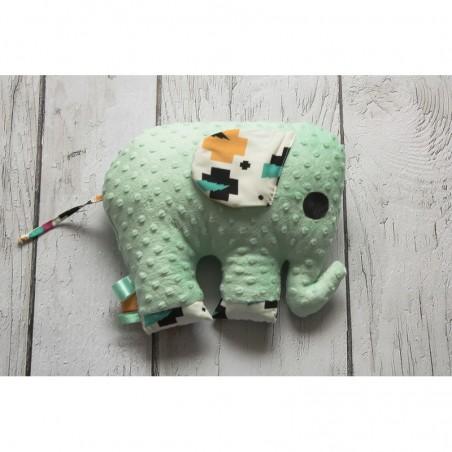 Hračka - vankúšik sloník Minky zelený
