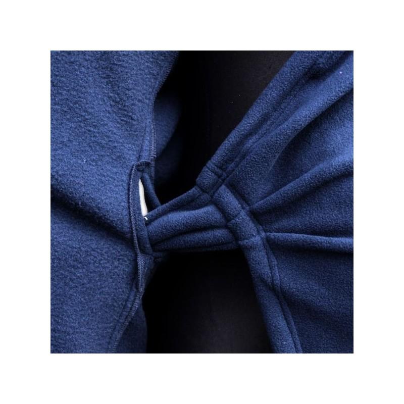 Zina - zavinovací fleesový kabátik tmavomodrý
