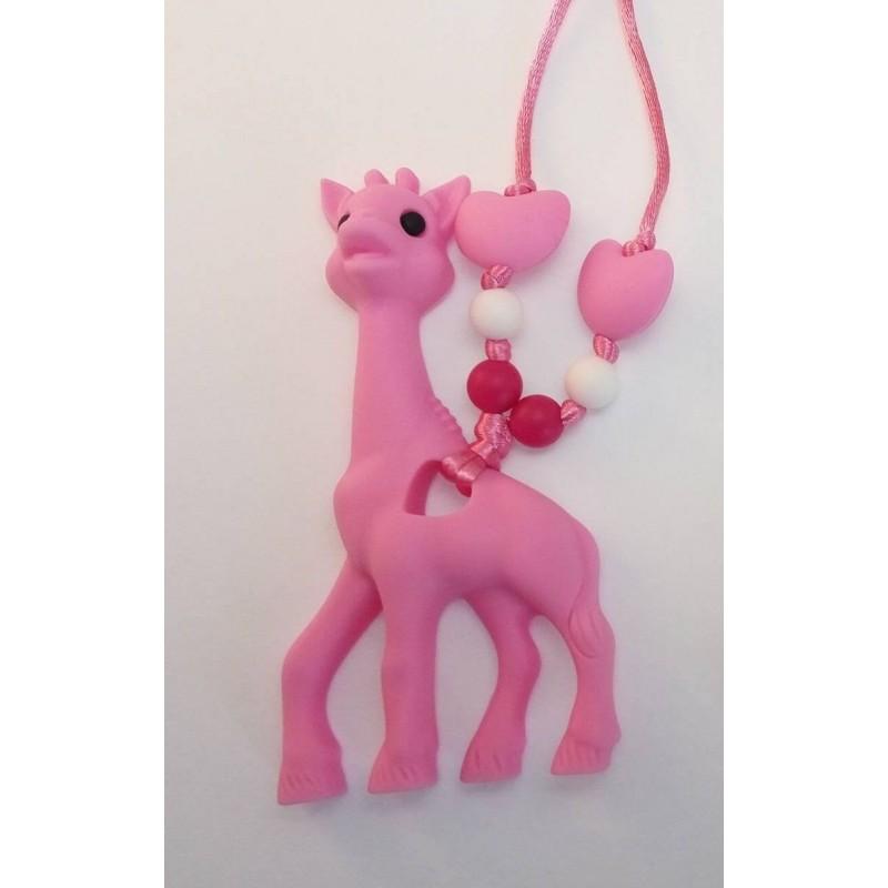 Nahrdelník žirafa ružová