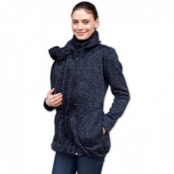 Radka - sveter na predné/zadné nosenie čierny malír