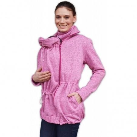 Radka - sveter na predné/zadné nosenie ružový melír