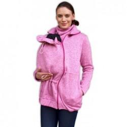 Renáta - sveter na predné nosenie ružový melír