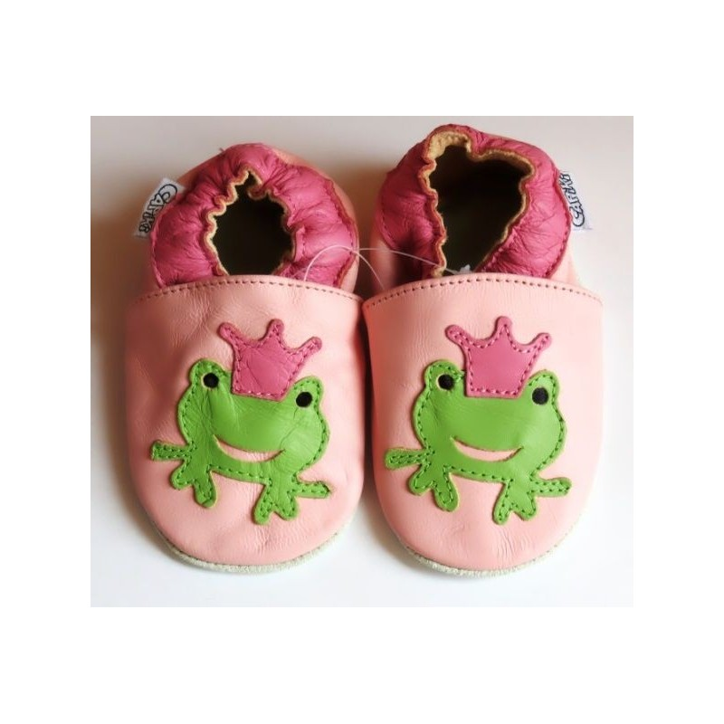 Kožené capačky - Žabka princezná