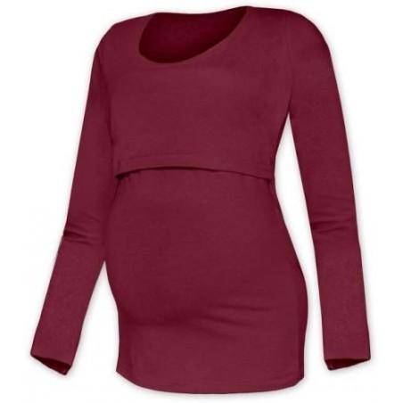 Kateřina - tričko na dojčenie, dlhé rukávy,  bordová