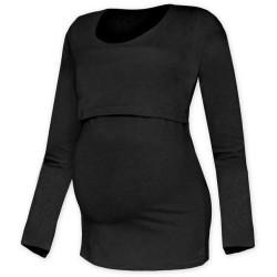 Kateřina - tričko na dojčenie, dlhé rukávy, čierna