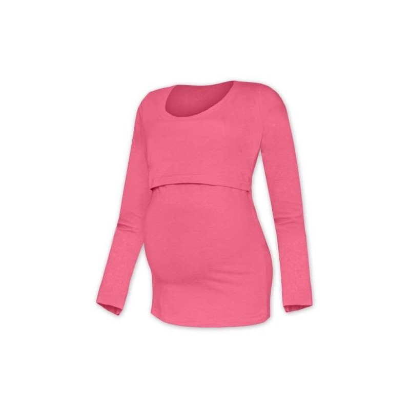 Kateřina - tričko na dojčenie, dlhé rukávy, lososová ružová
