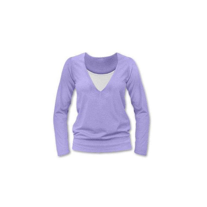 Karla - tričko na dojčenie, dlhé rukávy, lila