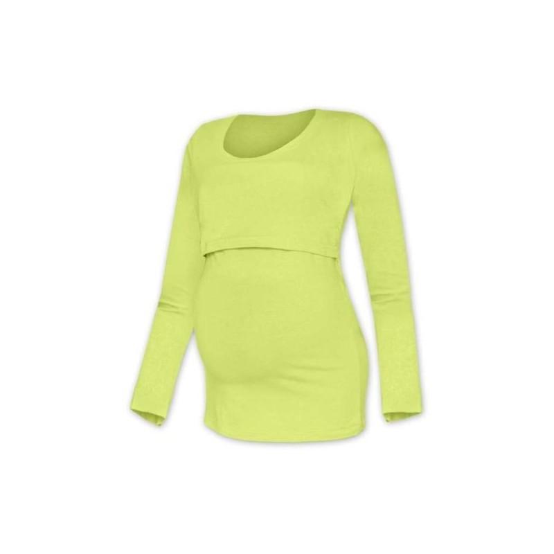 Kateřina - tričko na dojčenie, dlhé rukávy, svetlo zelená