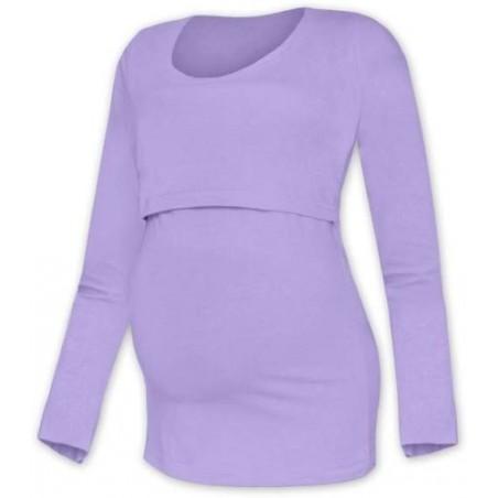 Kateřina - tričko na dojčenie, dlhé rukávy, lavender