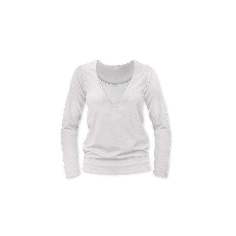 Karla - tričko na dojčenie, dlhé rukávy, smotanová