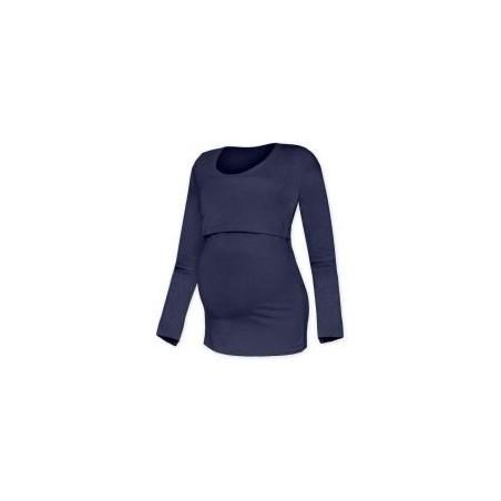 Kateřina - tričko na dojčenie, dlhé rukávy, tmavo modrá