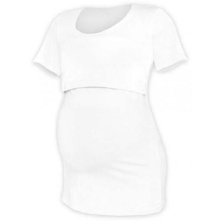 Kateřina - tričko na dojčenie, krátke rukávy, biela