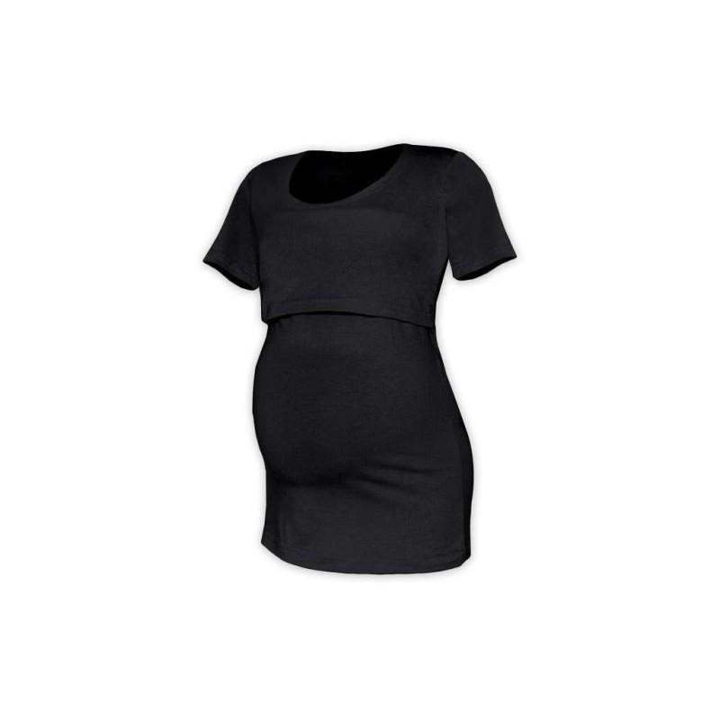Kateřina - tričko na dojčenie, krátke rukávy, čierna