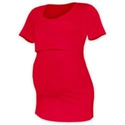 Kateřina - tričko na dojčenie, krátke rukávy, červená
