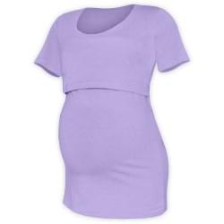 Kateřina - tričko na dojčenie, krátke rukávy, lavender