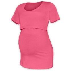 Kateřina - tričko na dojčenie, krátke rukávy, lososová ružová