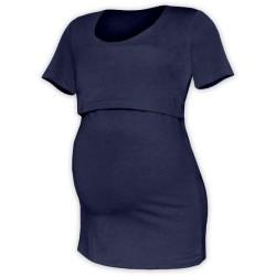 Kateřina - tričko na dojčenie, krátke rukávy, tmavo modrá