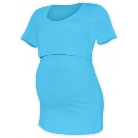 Kateřina - tričko na dojčenie, krátke rukávy, tyrkysová