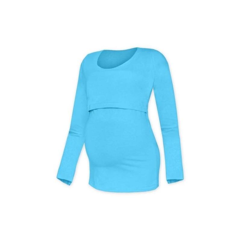 Kateřina - tričko na dojčenie, dlhé rukávy, tyrkysová