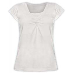 Klaudia - tričko na dojčenie, krátky rukáv, smotanová