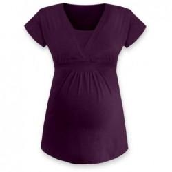 Anička - tričko na dojčenie, krátke rukávy, slivková