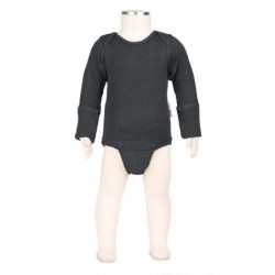 Manymonths body-tričko merino Foggy Black