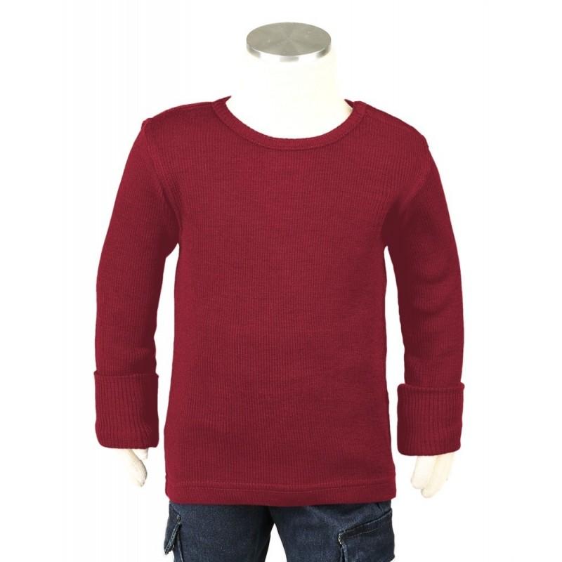 Manymonths tričko merino Raspberry Red