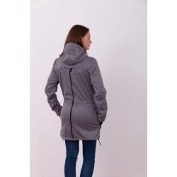 Alica - softshellová bunda na nosenie detí sivý melír