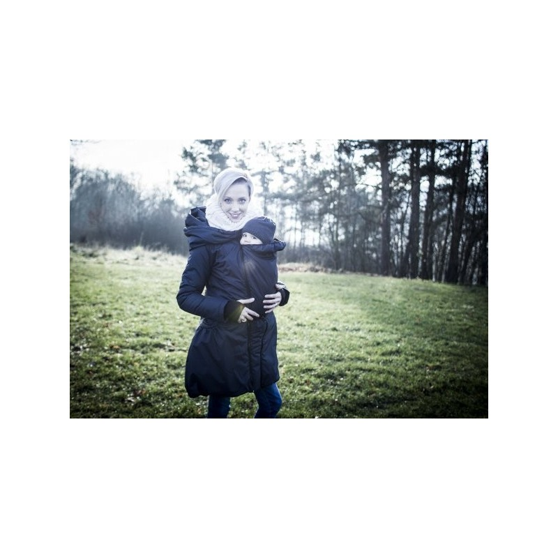 Zimný kabát - tmavo sivý