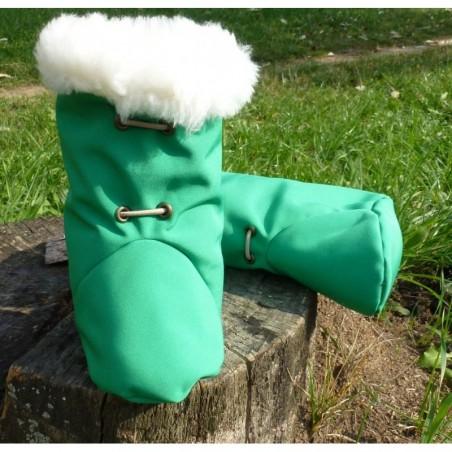 Softshellové čižmičky  tmavo zelené
