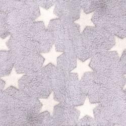 Zavinovacia fleece deka - Smotanové hviezdičky