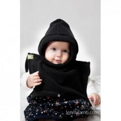 Kapucňa so šálom pre dvoch - čierna