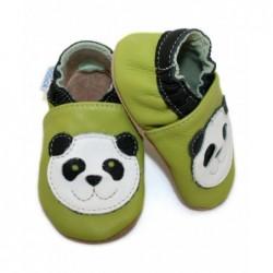 Kožené capačky Babice Panda - zelené
