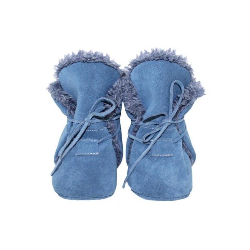Zimné kožené capačky Babice - jeans