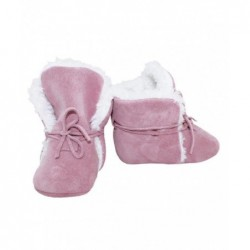 Zimné kožené capačky Babice - ružové
