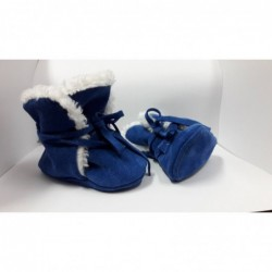 Zimné kožené capačky Babice - tmavo modré