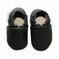Kožené capačky Babice - čierne
